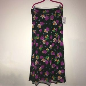 Strawberry & Floral Maxi Skirt LuLaRoe BNWT XL